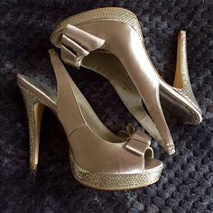 Lulu Townsend,champagne heels, size 7 Lulu Townsend, Champagne heels with sequins , size 7. Shoes Heels