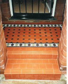 Edwardian Tiles - Steps and Little Porch - North Perth IN. LOVE.