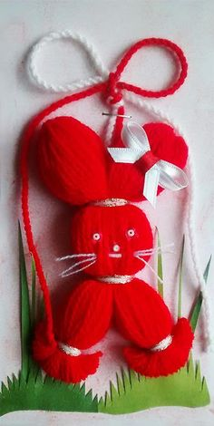 Hobbies And Crafts, Diy And Crafts, Baba Marta, Christmas Crafts For Kids, Christmas Ornaments, International Craft, Mother's Day Diy, School Projects, Sewing Hacks