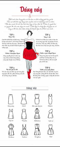 Biết cách lựa chọn trang phục phù hợp sẽ đưa bạn ra khỏi những giới hạn gò bó về thời trang. Nếu bạn thích một chiếc váy hãy mặc nó, vì bạn xứng đáng luôn xinh đẹp, quyến rũ... #fashion #Cách_Chọn_Váy