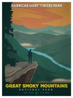 Vintage National Park Poster | Idea Storm Media
