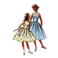 Simplicity 2057 Girl's Sleeveless Full Skirt w/ by patternmemories