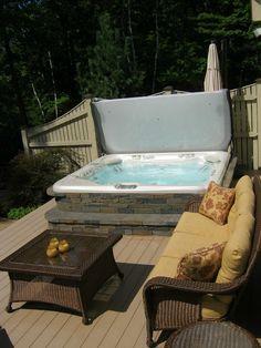 Hotspring Grandee With Custom Spastone Exterior Carlisle Ma Purchased Oasis Hot Tub Sauna Serving