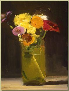 """Katy Schneider, """"Wildflowers,"""" 6 x 6 in., 2000"""