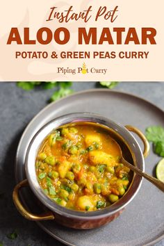 Instant pot recipes 20055160827714806 - Aloo Matar is a quick and easy potatoes and peas curry, make in the Instant Pot or stovetop. This vegan and gluten free Aloo Matar Masala is perfect for a delicious warm weeknight dinner! Source by thenovicechef Healthy Food Recipes, Veg Recipes, Curry Recipes, Indian Food Recipes, Cooking Recipes, Recipes Dinner, Dairy Free Indian Recipes, Vegan Indian Food, Indian Vegetarian Recipes