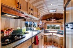 1954 airstream to tiny cabin 0010 600x399   1954 Airstream Renovated into Timeless Tiny Cabin on Wheels