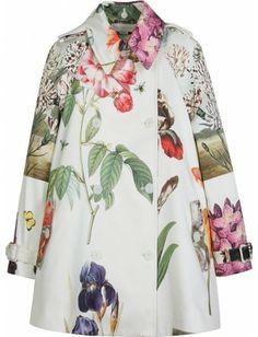 Stella McCartney - COAT WITH FLORAL ILLUSTRATION - mytheresa.com - Luxury Fashion for Women / Designer clothing, shoes, bags ($500-5000) - Svpply
