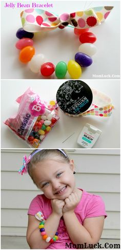 Making an Jelly Bean Bracelet for Easter is a fun inexpensive way to make Easter Crafts For Kids. You only need a few supplies to make this craft for kids.
