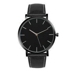 Milky Unisex Quartz Watch Men Women Famous Brand Gold Leather Band Wrist Watches Luxury women's watches Reloj de mujer DEC21