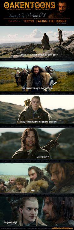 Oakentoon #10: They're taking the hobbit by PeckishOwl.deviantart.com on @DeviantArt