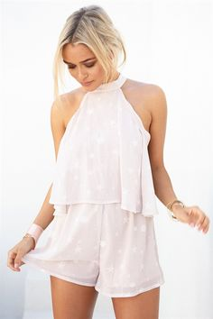 Buy Blush Luna Playsuit Online - Playsuits - Women's Clothing & Fashion - SABO SKIRT