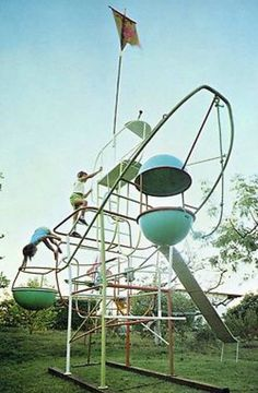 Why do I feel like my new obsession is going to be looking for mid century playground equipment? Jungle Gym designed by Svetozar Radakovich 1965 Play Spaces, Kid Spaces, Cool Playgrounds, Jungle Gym, Gym Design, Urban Design, Outdoor Play, Play Houses, Landscape Architecture