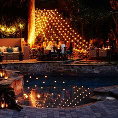 Nicole Richie's Backyard - The lights are magical...