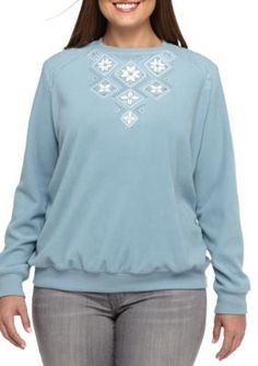 Alfred Dunner  Plus Size Northern Lights Floral Diamond Yoke