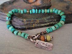 Turquoise+Knotted+friendship+bracelet++Live+Love+door+slashKnots,+$78.00