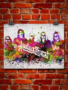 Judas Priest In Color Poster Home Decor Gift Idea by Agedpixel