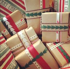 My Christmas wrapping last year from World Market