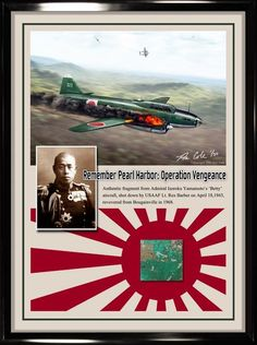 Isoroku Yamamoto G4M Betty relic display by aviation artist Ron Cole for sale at Cole's Aircraft