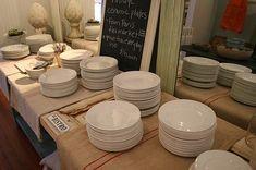 Vintage Bistro Dishes    From the Paris Flea Market