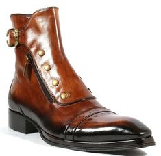 Jo Ghost Italian Mens Shoes Playo Inglese Tabacco Brown Leather Boots Material: Leather Hardware: Antique Gold Metal Color: Tabacco / Brown Outer Sole: Leather Comes with original box and dustbag. - Mens Boots - Ideas of Mens boots Buckle Ankle Boots, Ankle Shoes, Men's Shoes, Shoe Boots, Dress Shoes, Punk Shoes, Shoes Men, Ankle Strap, Men Boots