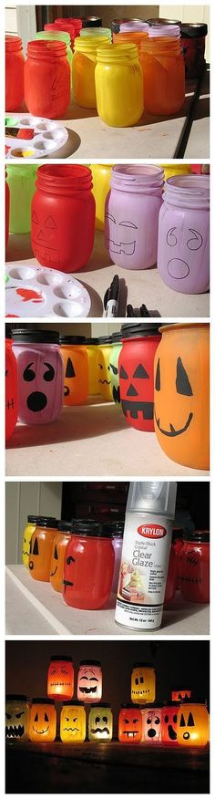 Halloween jar luminaries