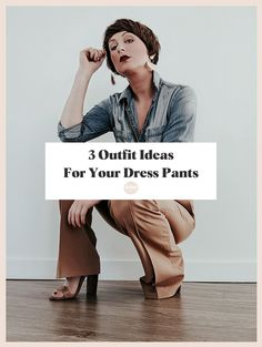 3 Outfit Ideas for Your Dress Pants I'm sharing 3 different ways you can revive your dress pants from your closet and wear them today. The RELM & Co | Fashion, Lifestyle, Beauty Blog by Rebecca M. | Outfit ideas, shopping advice, style tips, life lessons and inspiration, and much more. women's style | dress pants | outfit ideas | outfit inspiration | what to wear | work from home outfits | weekend looks | everyday style Dress Slacks, Pants Outfit, Suit Pants, Business Casual Men, Men Casual, Mens Clothing Styles, Looking For Women, Everyday Fashion, Casual Looks