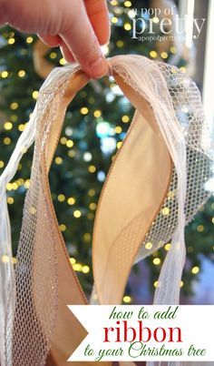 Christmas decorating tip: how to add ribbon to your tree. | A Pop of Pretty: Canadian Decorating Blog | Finding the pretty in an every day home | Affordable home decor ideas tips tutorials inspiration |St Johns NL