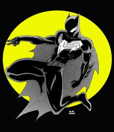 Batman Beyond - Spiderman Marvel Dc Comics, Dc Comics Art, Marvel Vs, Marvel Heroes, Spiderman Kunst, Batman Spiderman, Batman Redesign, Man Thing Marvel, Amazing Spiderman