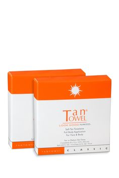 Tan Towel self tanner. Great to take on vacation to brighten up your tan. Dries instantly, doesn't feel sticky or have a bad odor. Shower ~8 hours after applying and voila!