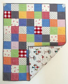 Adorable quilt from Red Pepper Quilts blog. Reminds me of mine, made by Ma!