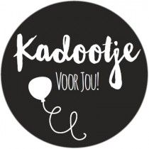 Sticker kadootje voor jou Zwart wit Dutch Quotes, Diy Stickers, Silhouette Cameo, Doodles, Clip Art, Printables, Black And White, Cards, Stamps