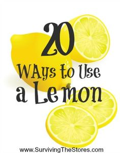 2O Ways to Use a Lemon including air freshening, de-greasing, and as a moth repellent!