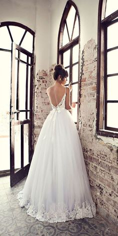 24 Breath-Taking Low Back Wedding Dresses ❤ See more: http://www.weddingforward.com/low-back-wedding-dresses/ #weddings #dress