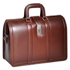 Morgan Brown Leather Laptop Briefcase by McKlein USA - 83344