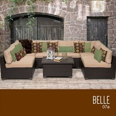 TKC Belle 7 Piece Outdoor Wicker Patio Furniture Set * Be sure to check out this.