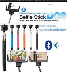 "Monopod Palo Selfie con disparador bluetooth y espejo para smartphone Bq Aquaris E5 E4.5 E6 FHD HD 4.5"" / 5"" / 6"" COLOR - FUCSIA D09 ..."