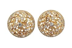 ff0101eb854 Vintage 1980s Signed Bijoux Cascio Italy Domed Rhinestone Earrings Vintage  Costume Jewelry, Vintage Costumes,