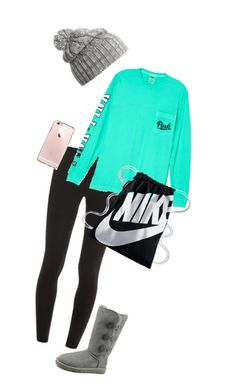 """Untitled #216"" by hjpnosser ❤ liked on Polyvore featuring Splendid, Victoria's Secret, UGG Australia, NIKE and Helly Hansen"