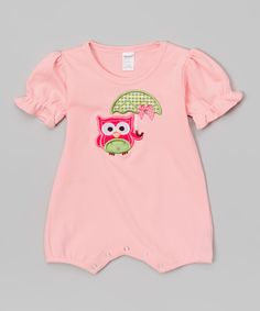 Look at this Pink Rainy Owl Romper - Infant on #zulily today!