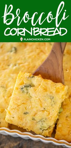 SO simple and tastes great! Perfect for all your summer cookouts and potlucks! Broccoli Jiffy mix eggs cheddar cheese cottage cheese and milk. Ready to eat in about 30 minutes. A favorite in our house! Sour Cream Cornbread, Jiffy Cornbread Recipes, Sweet Cornbread, Brocolli Cornbread, Healthy Bread Recipes, Cooking Recipes, Pie Recipes, Brocoli And Cheese, Great Recipes