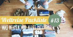 Unsere beste Weltreise-Packliste - für eine längere Reise ohne Route!Was brauchen wir definitiv? Was packen wir in den Backpack? Was darf nicht fehlen?