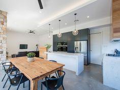 Photos by Stuart James Kitchen Reno, New Kitchen, Kitchen Dining, Kitchen Islands, Kitchen Cabinets, Kitchen Benches, Rustic Kitchen, Architecture Awards, Courtyard House