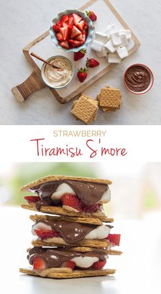 We're obsessed with these Strawberry Tiramisu S'mores. Toast your marshmallows over a lit unscented candle for a romantic date night idea. #FunFoodSun