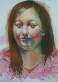 Pastel Portrait 20 x 28 approx Framed