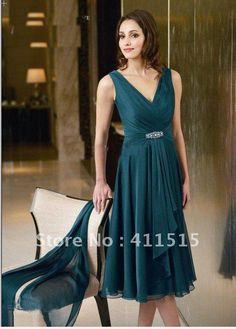 Custom Made!2013 with Real Pictures Top Sale Short Chiffon V-neck Formal Mother of the Bride/Groom Dresses free shipping on AliExpress.com. 5% off $109.25