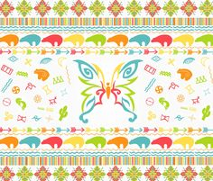 Southwest Huichol  fabric by heckadoodledo on Spoonflower - custom fabric