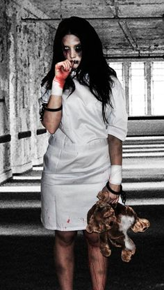 Me! Tasha K, as a Child Escaped from an Asylum ;) Halloween 2010 - Get your Halloween photos retouched with Tasha K Photography & pasted onto a matching background!! Only 10€, $12.00 - https://www.facebook.com/photo.php?fbid=281466081886193&set=a.281466041886197.74064.105381976161272&type=1&theater #halloween #scary #costume #asylum