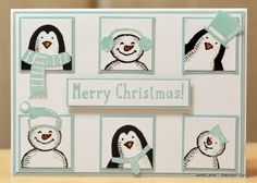 JanB Handmade Cards Atelier: Snow Place No. Stampin Up Christmas, Christmas Cards To Make, Christmas Settings, Noel Christmas, Handmade Christmas, Christmas Paper, Scrapbooking, Scrapbook Cards, Snow Place