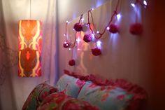 Fio de luz com pompom - DIY