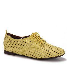 Sapato Oxford Feminino Cravo & Canela - Amarelo